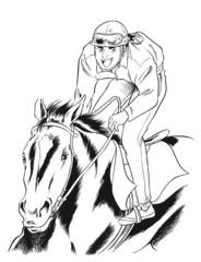 馬と騎手(喜び)