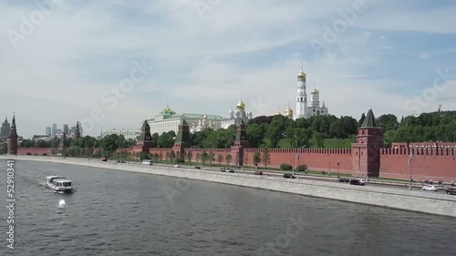 Kremlin in Moscow, Russia. View from Big Moskvoreckij bridge.