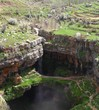Baatara Sinkhole and Waterfall, Lebanon.