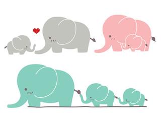 Cute Elephant - Vector File EPS10