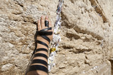 Phylacteries Wrapped Hand on the Western Wall