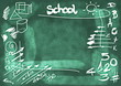 School Doodle background and texture
