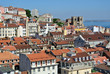 Panoramic view on historic Alfama in Lisbon