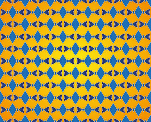 abstract rhombic pattern