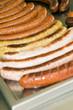 street stand food knockwurst bratwurst fried kasekrainer sausage