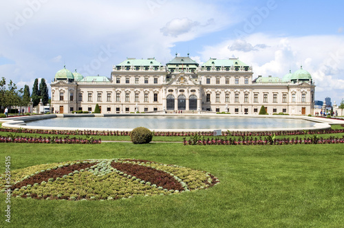 Upper Belvedere Palace Castle Vienna Austria Europe with landsca
