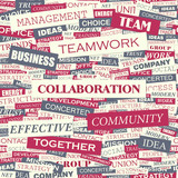 COLLABORATION. Word cloud concept illustration.