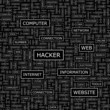 HACKER. Word cloud concept illustration.