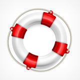 Life buoy on white