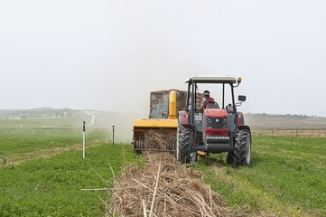 tractor hay collection