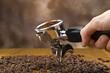 An espresso machine group head  for italian coffee