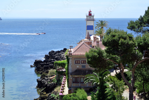 Saint martha's lighthouse, Cascais, Portugal