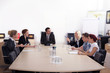Geschäftsleute halten Meeting