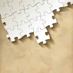 Puzzle Hintergrund Textur Puzzlestücke Vintage