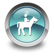 "Light Blue Glossy Pictogram ""Horse Trail"""