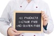 All products lactose free and gluten free