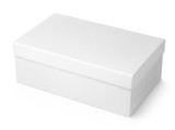 White shoe box isolated on white with clipping path