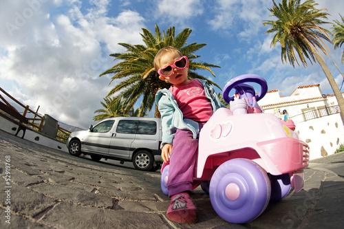 Junge Fahrerin