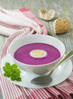 Cold  red beet soup