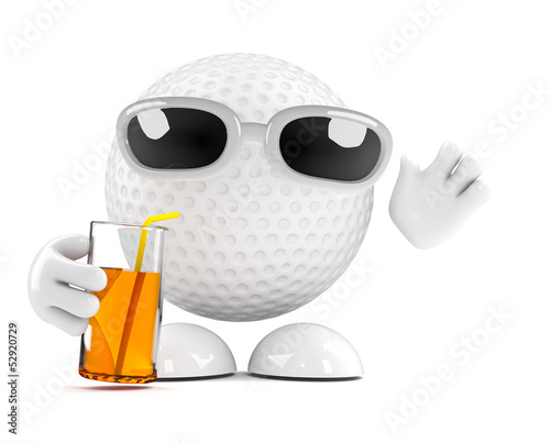 Golfball needs a drink