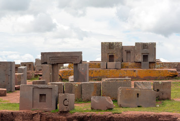 Megalithic stones in the complex Puma Punku, Tiwanaku