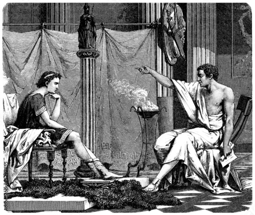 Aristoteles Teaching - Ancient Greece