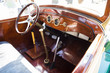 Vintage retro car interior