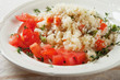 Couscous with herbs and tomato