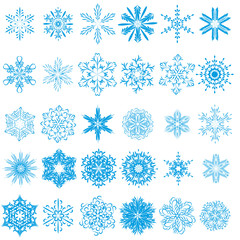 collection of beautiful winter snowflakes. vector set