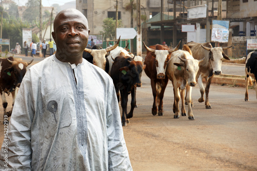 African cattle farmer