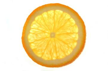 plaster pomarańczy na białym tle