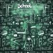 School seamless doodle texture