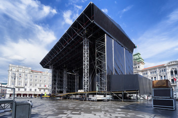 stage on city square