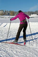 skieur de fond en plein effort
