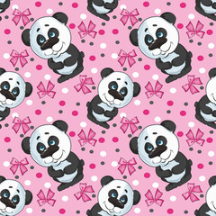 pattern of a panda for girls