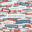 ADVERTISING. Word cloud concept illustration.