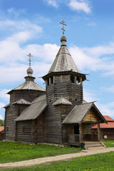 The wooden church in Suzdal museum, Russia
