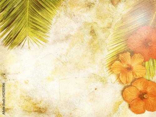 Fotobehang Retro tropical background