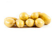 Fresh potatoes on a white background.
