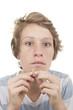 puberty acne spots