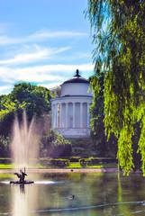 Saxon garden in Warsaw, Poland