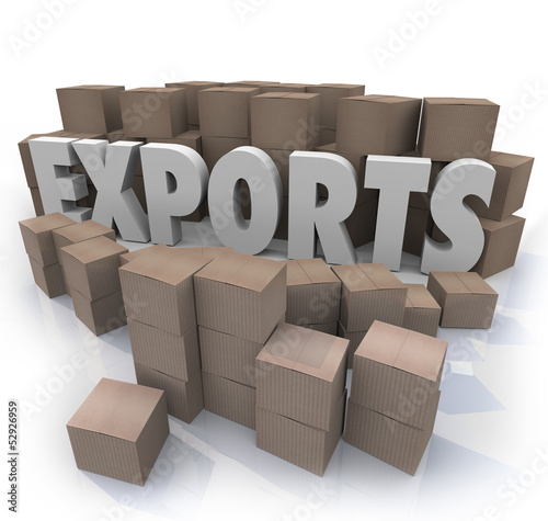 Exports Cardboard Boxes International Trade Warehouse