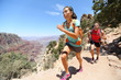 Trail running cross-country runner in Grand Canyon