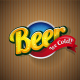 Vintage beer poster sign vector