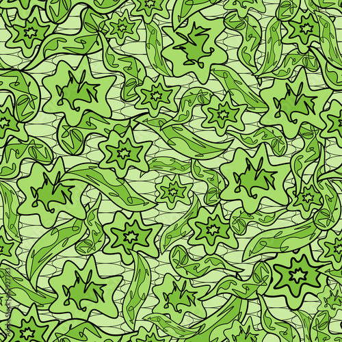 Abstract herbal camouflage pattern