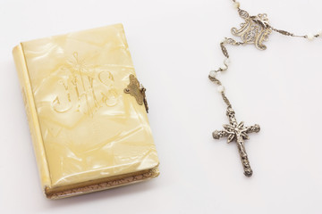 Firts Communion Rosary and Book
