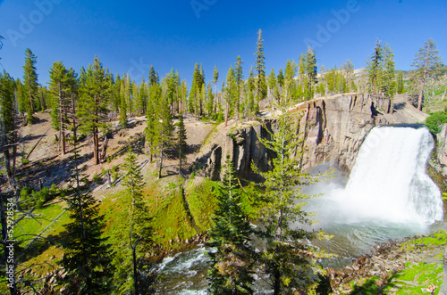 Rainbow Falls at Devil's Postpile National Monument in Californi