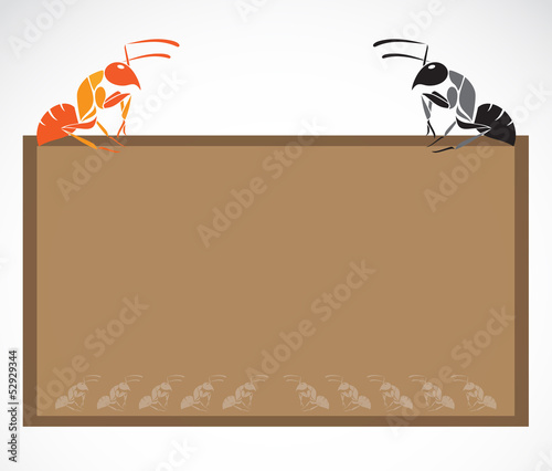 School blackboard with ant - vector illustration.