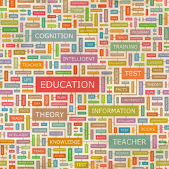 EDUCATION. Word cloud concept illustration.