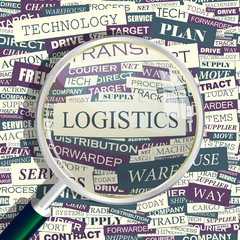 LOGISTICS. Word cloud concept illustration.